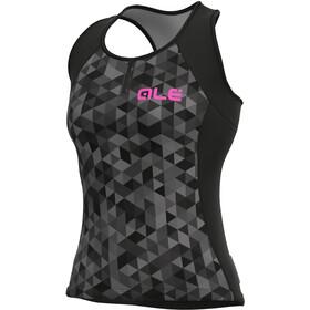 Alé Cycling Solid Triangles Tank Top Women, grijs/zwart